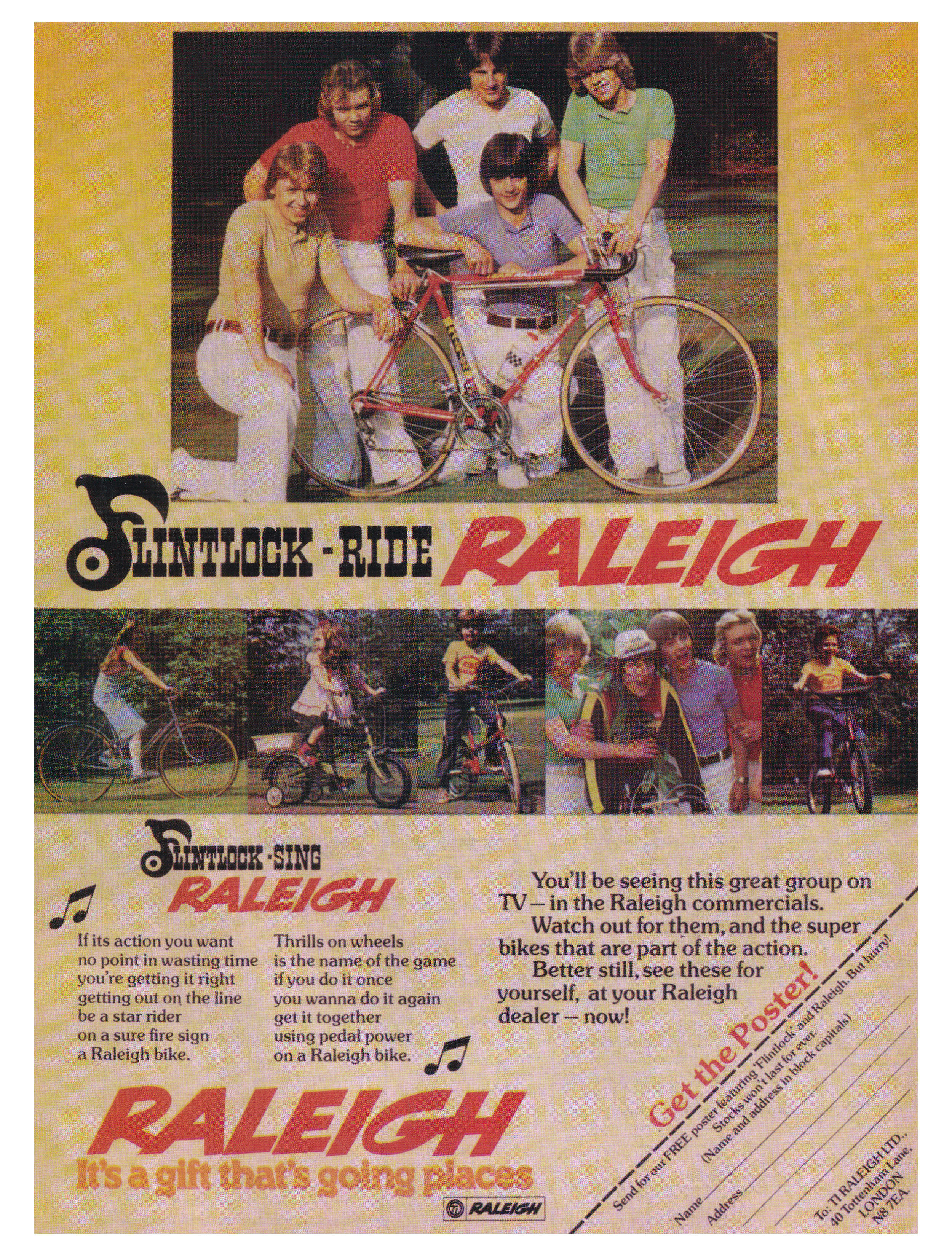 Flintlock ride Raleigh in 1977.