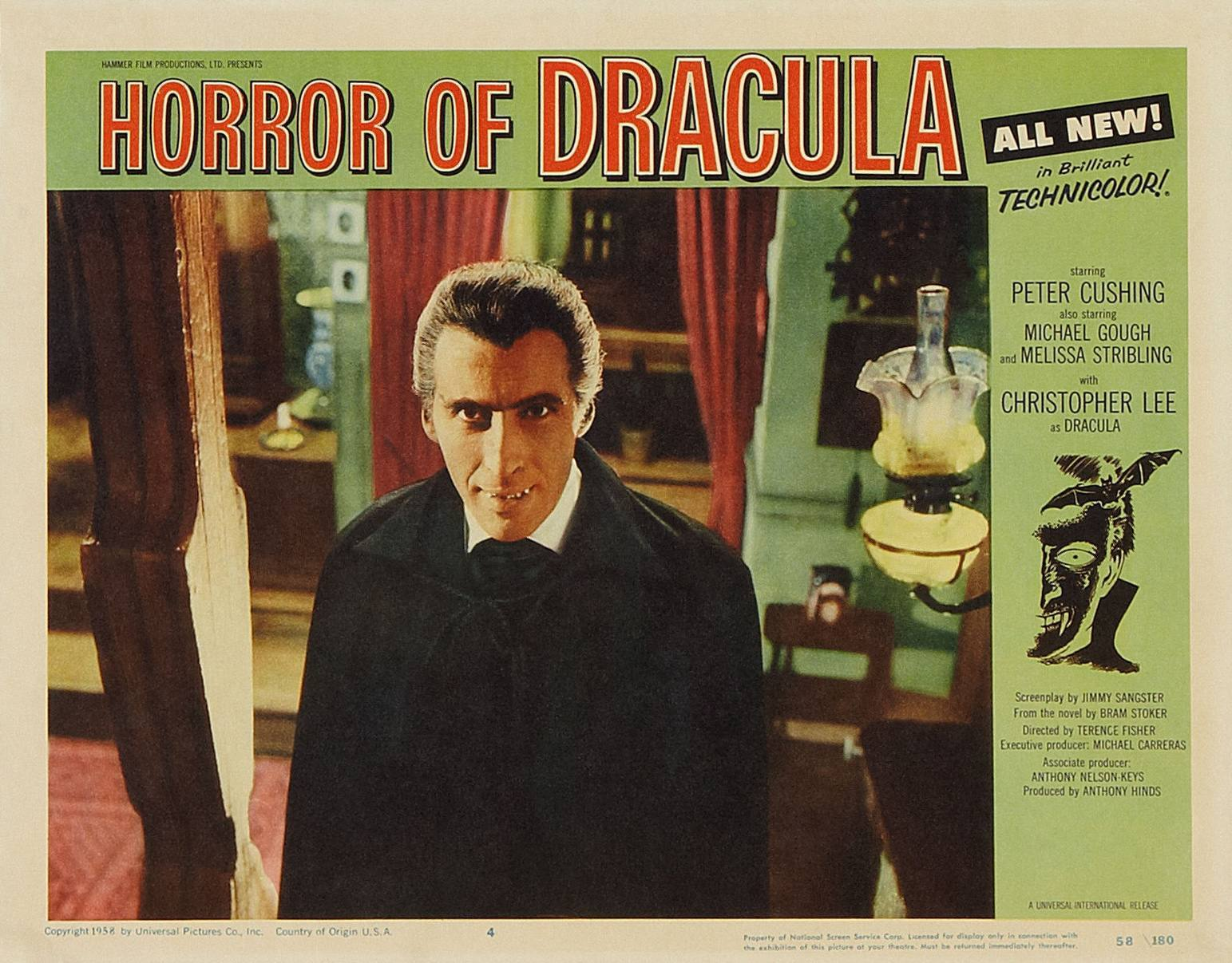 Horror of Dracula was the American title of Dracula so as not to confuse with the original Bela Lugosi Universal version.