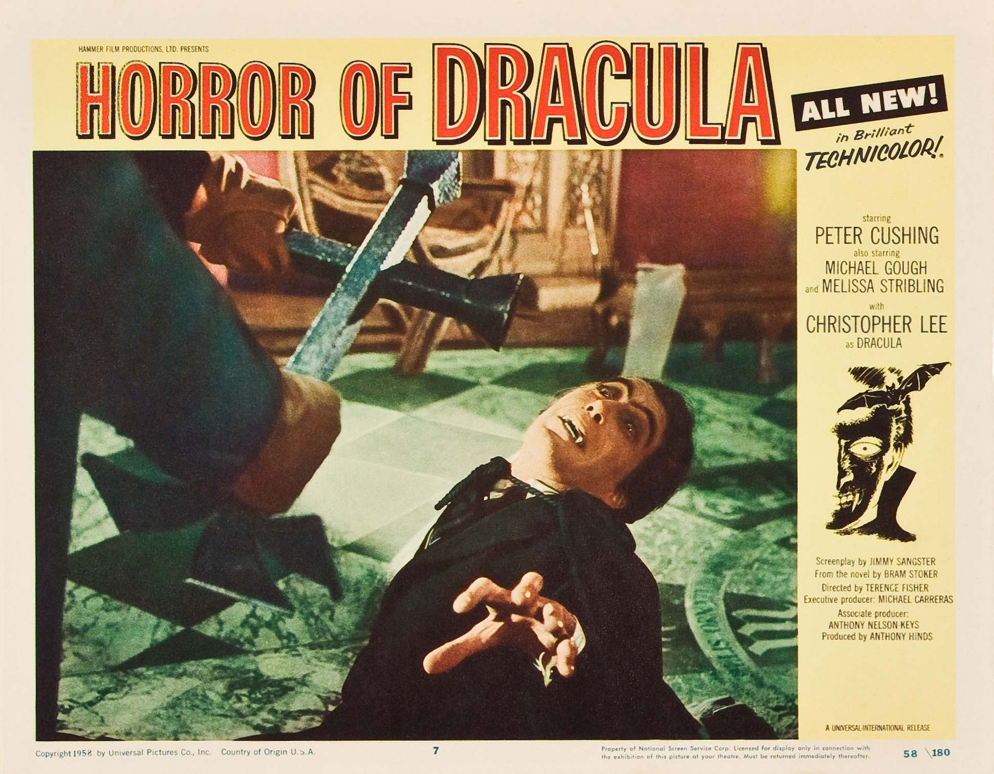 American Horror of Dracula lobby card.