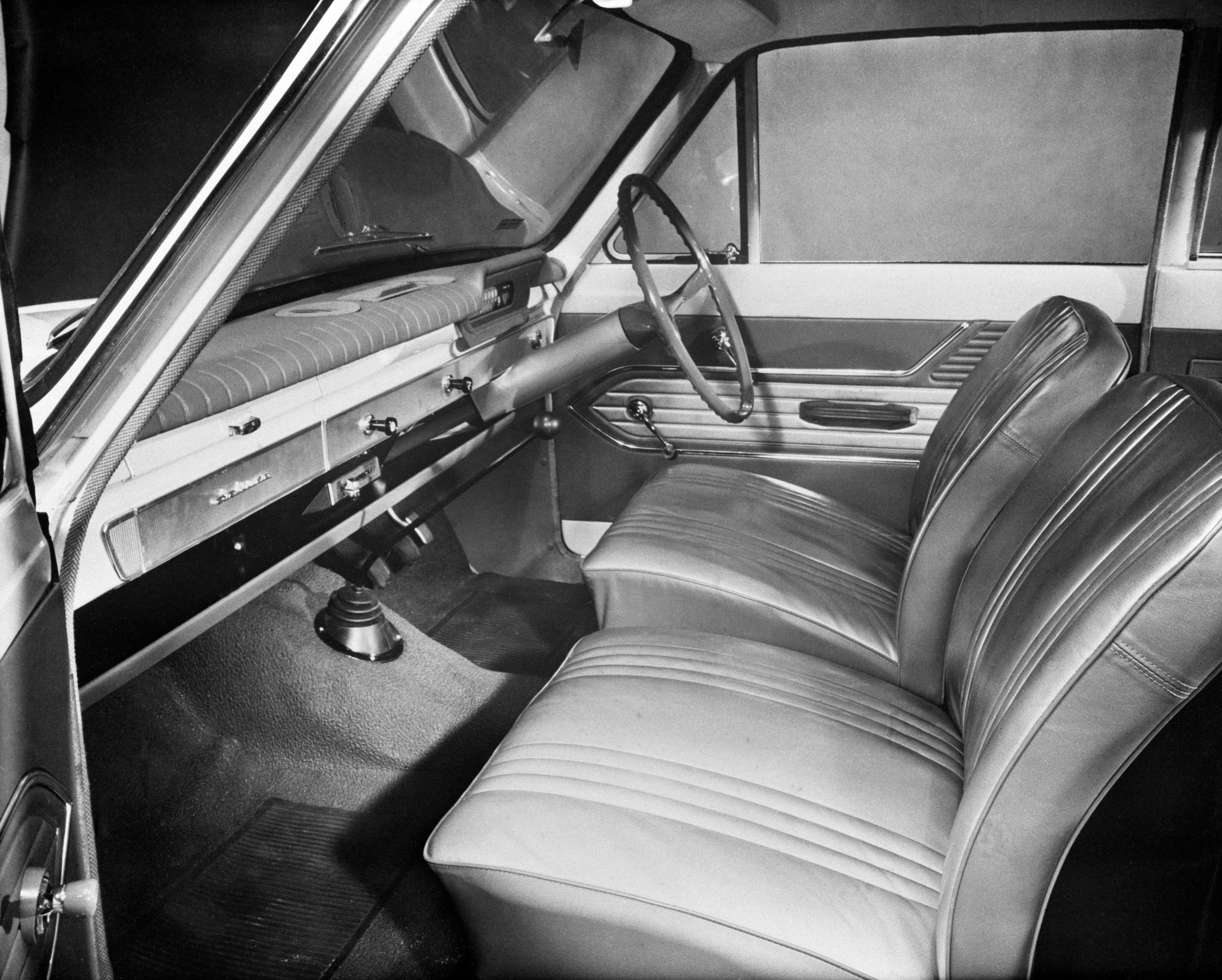 Interior of the firs Ford Consul Cortina in September 1962.
