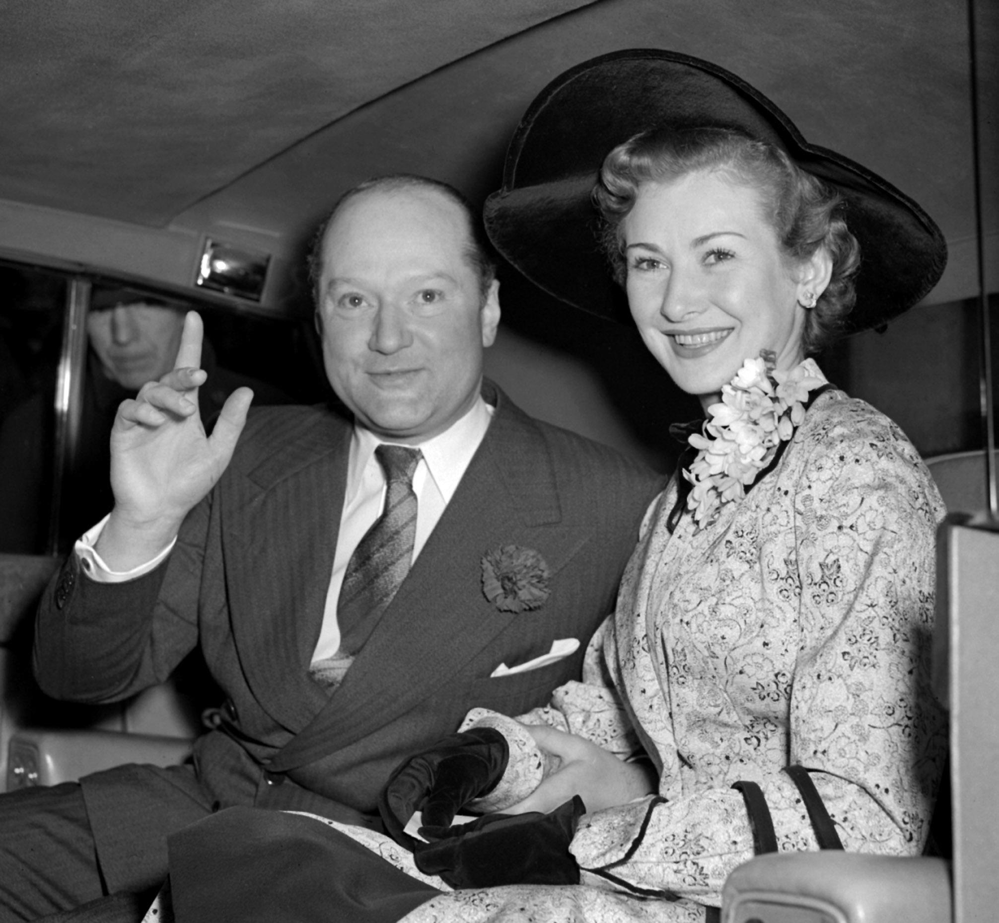 "Mr John Davis, president of the Rank Organisation and film star/singer Dinah Sheridan, after their wedding at Caxton Hall, London on 3 March 1954. John Davis, who proposed to her on the one condition that she give up acting. She decided, with no remarkable work offers on the cards, to accept his condition. ""I got a divorce eleven years later [in 1965] on the grounds of cruelty, which is still not easy in England. But after fifteen minutes, the judge said he 'didn't want to hear any more of the disgraceful details.'"