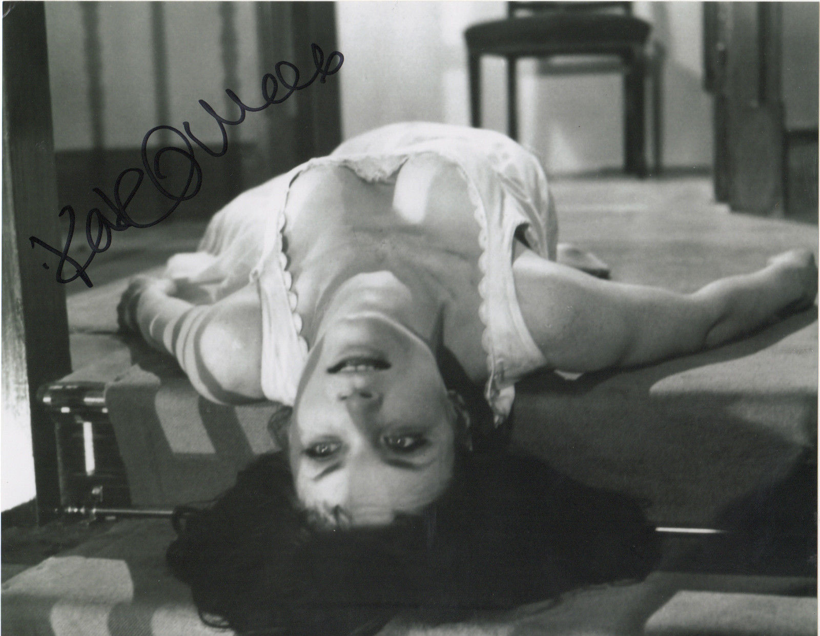 Kate O'Mara signed publicity still from Vampire Lovers