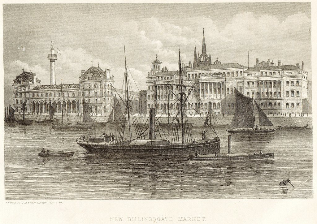 New Billingsgate Market 1899 from Cassell's Old and New London