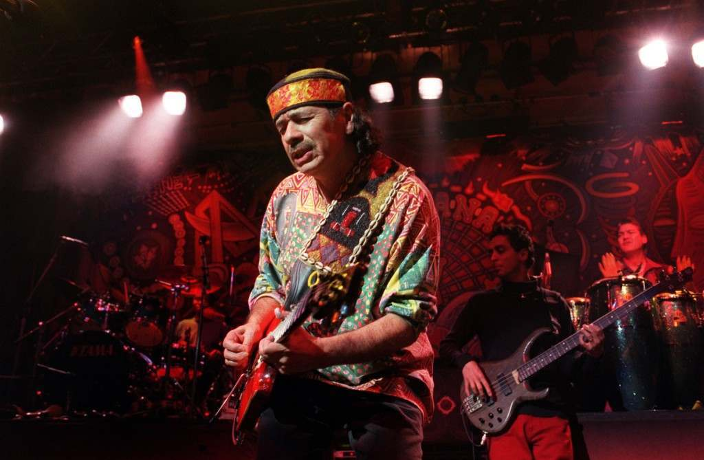 Grammy Awards nominee, veteran American rock and roll singer Carlos Santana, performing on stage at Tabernacle, in London's Notting Hill, where he played a special performance for invited guests. Ref #: PA.1264186  Date: 26/01/2000