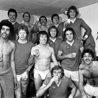 Inside Soccer Changing Rooms Of The 1970s: Bathtime With The Winners