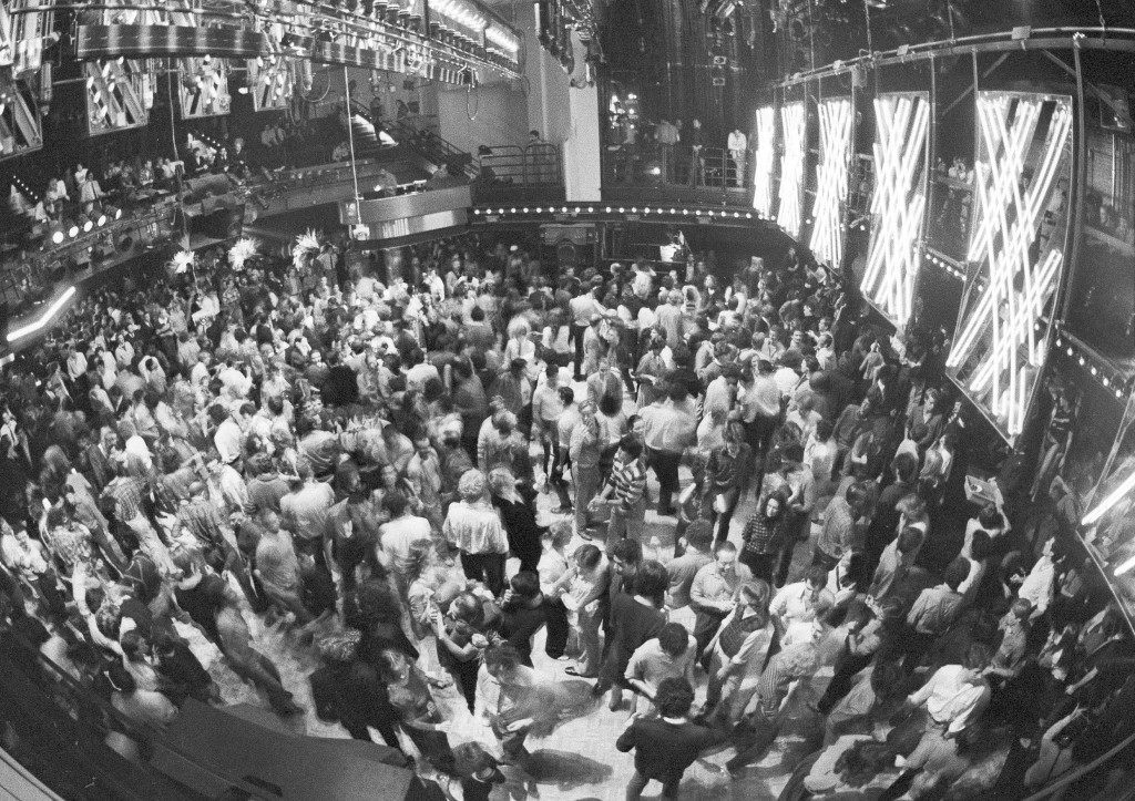 The dance floor is crowded with dancers gyrating to a disco beat at New York's Studio 54, Nov. 6, 1979. (AP Photo/Richard Drew) Ref #: PA.17555462 Date: 06/11/1979