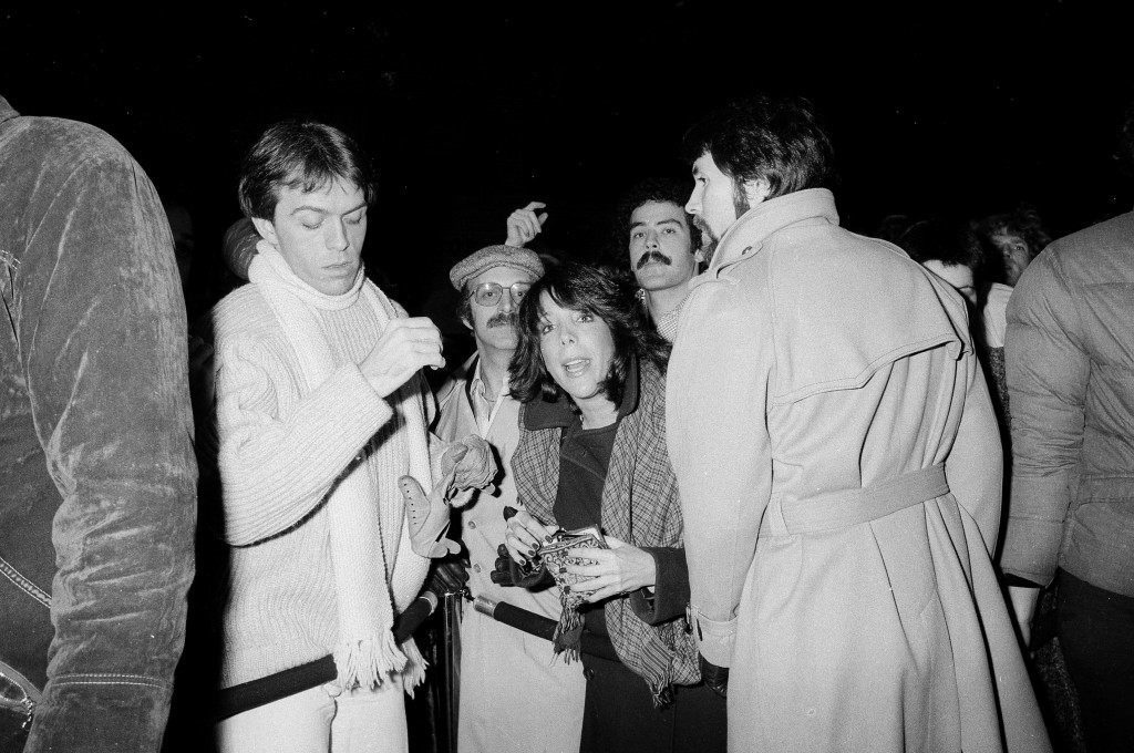 Hopeful patrons vie for position by the velvet rope hoping to gain entry into the popular disco club, Studio 54 in New York, Nov. 6, 1979. (AP Photo/Richard Drew) Ref #: PA.17555483 Date: 06/11/1979