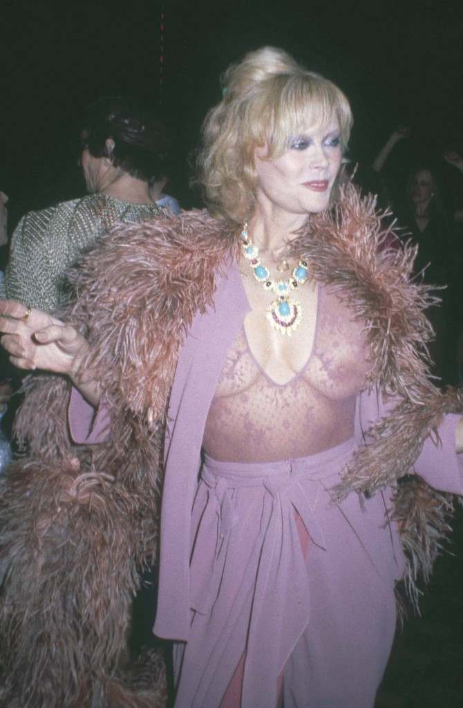 Actress Monique van Vooren struts her stuff at New York's Studio 54, March 1979. (AP Photo)