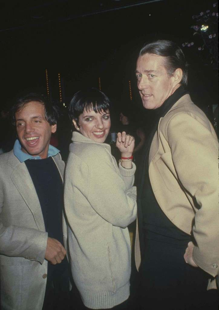 Entertainer Liza Minnelli, center, is shown with fashion designer Halston, right, and Studio 54 co-owner Steve Rubell, March 1979, at New York's Studio 54. (AP Photo)