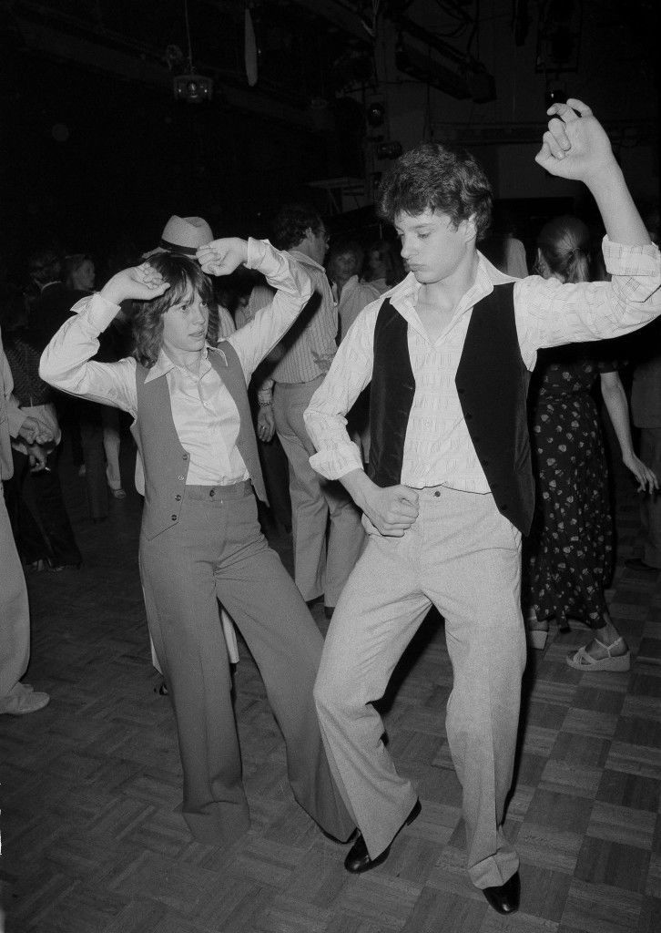 "Television actress Kristy McNichol dances with Stew Star at New York's Studio 54 disco, May 6, 1978. Ms. McNichol currently stars in the TV series ""Family"". (AP Photo) Ref #: PA.17590659 Date: 06/05/1978"