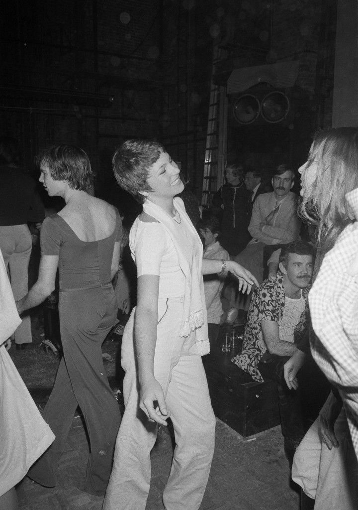 Actress Tatum O'Neal appears to be enjoying herself as she dances the night away at New York's Studio 54 disco, April 15, 1978. Tatum's father, actor Ryan O'Neal, was also present. (AP Photo) Ref #: PA.17642641 Date: 15/04/1978