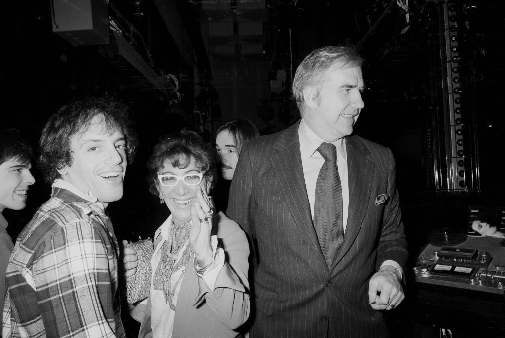 From left, night club owner Steve Rubell, film director Lina Wertmuller and television personality Ed McMahon are pictured at New York's Studio 54, Jan. 17, 1978. (AP Photo) Ref #: PA.17642644 Date: 17/01/1978