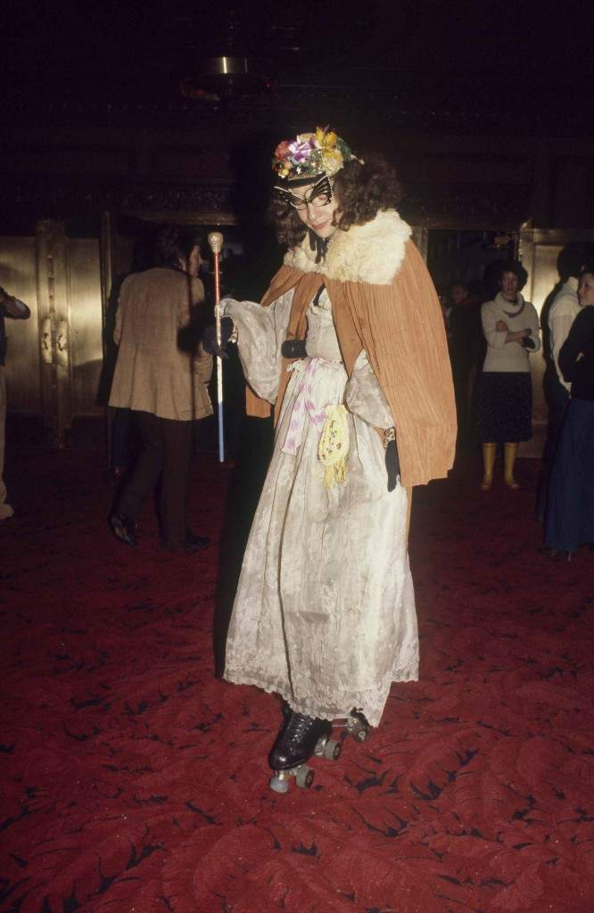 Dame Rollerena, who can be seen skating the streets of New York when she's not at Studio 54, is shown at the club with her magic wand, 1977. (AP Photo) Ref #: PA.17645270 Date: 01/01/1977