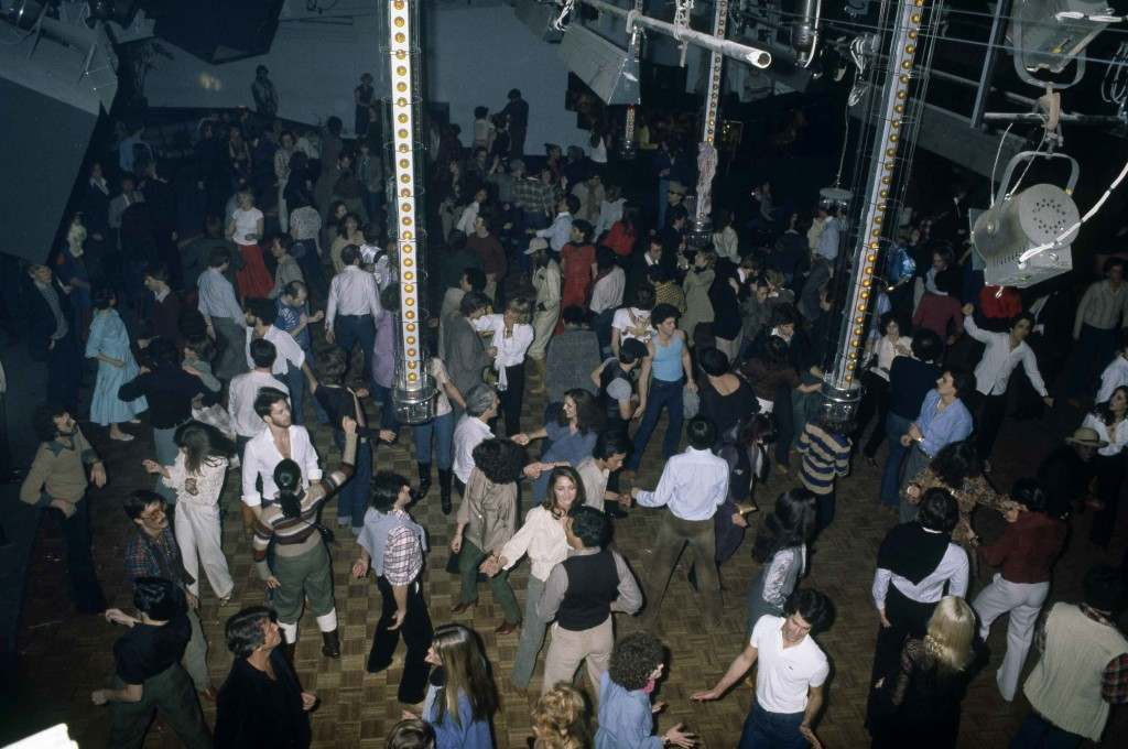 A general view of the dance floor as revelers dance the night away at New York's Studio 54 disco, 1977. (AP Photo) Ref #: PA.17645271 Date: 01/01/1977