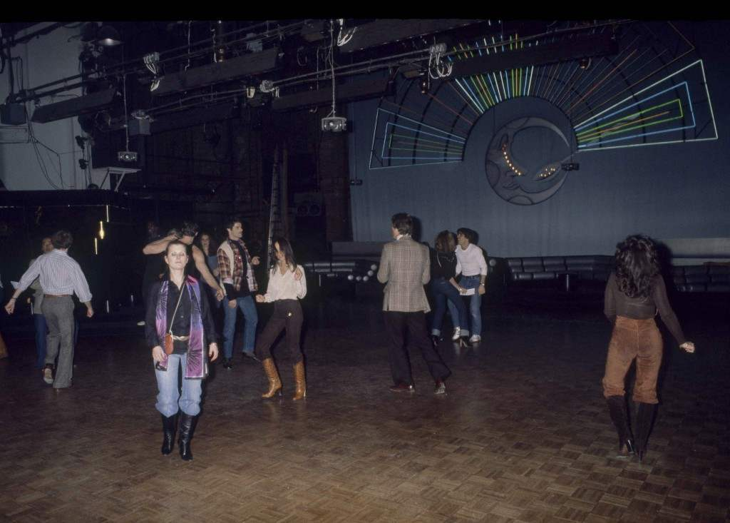 Just a few dancers are pictured on the floor at New York's Studio 54, 1977. (AP Photo) Ref #: PA.17645272 Date: 01/01/1977