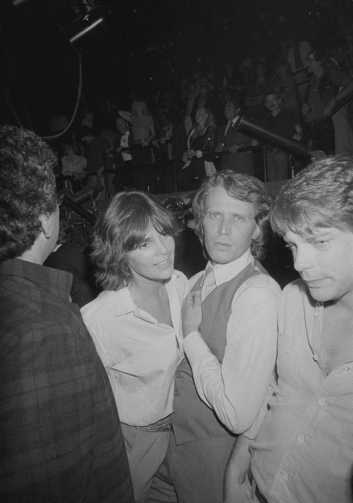Ali MacGraw celebrates the re-opening of Studio 54 in New York, Sept. 26, 1979, with steady companion Peter Weller. The controversial night spot re-opened after renovations, Tuesday at midnight. (AP Photo) Ref #: PA.17654475 Date: 26/09/1979