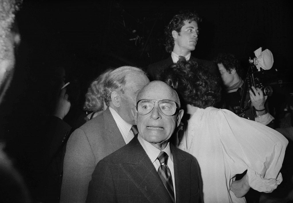 Literary agent Irving Lazar is pictured at New York's Studio 54, Dec. 3, 1977. (AP Photo) Ref #: PA.17654486 Date: 03/12/1977