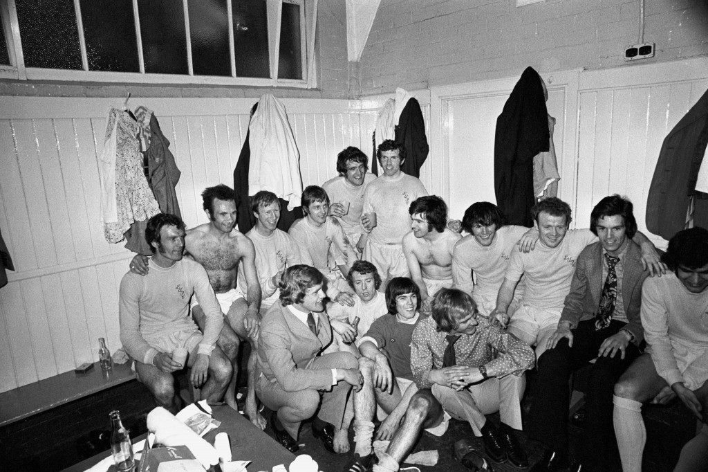 Soccer - FA Cup - Semi Final - Leeds United v Birmingham City Leeds United celebrate victory in the dressing room after the match  NULL Ref #: PA.387628  Date: 15/04/1972