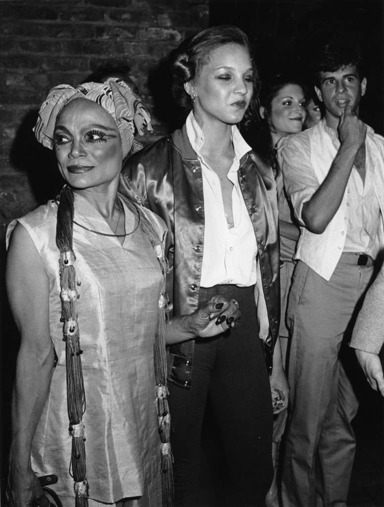 Eartha Kitt, left, and her daughter, Kitt McDonald are seen at New York's Studio 54, June 22, 1978. (AP Photo/G. Paul Burnett) Ref #: PA.4400297 Date: 22/06/1978