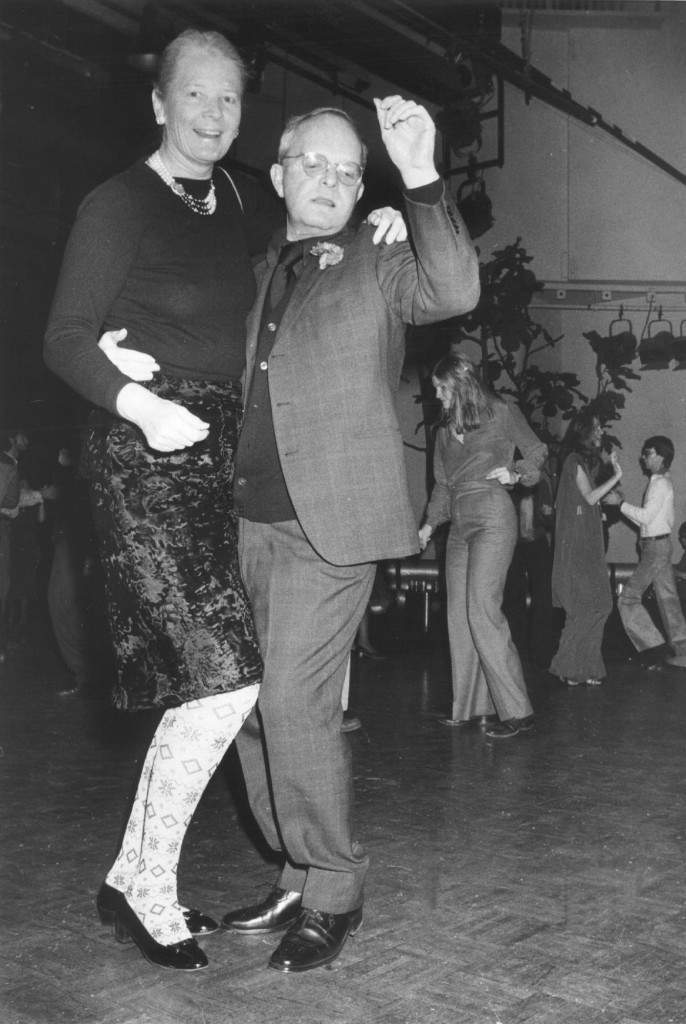 (AP) Capote steeps out - Author Truman Capote dances with Mrs. Winston Guest early thursday morning Jan. 12, at studio 54, a New York City Disco that has become popular with the celebrity set. (AP-Photo) January 12, 1978 Ref #: PA.4400300 Date: 12/01/1978
