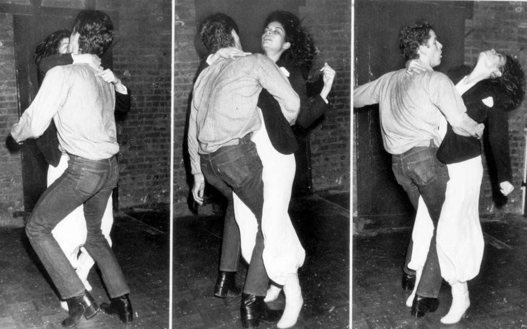 Disco Dancing - Bianca Jagger and companion dance at New York's Studio 54. EDS: we have not been able to identifity Miss Jagger's companion. (AP-Photo) 16.12.1977 Ref #: PA.4400311 Date: 16/12/1977