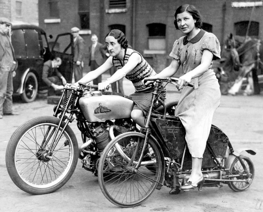 Cool Girls Riding Their Motorbikes Vintage Pre-War Photos Of Women And Their Rides -8091