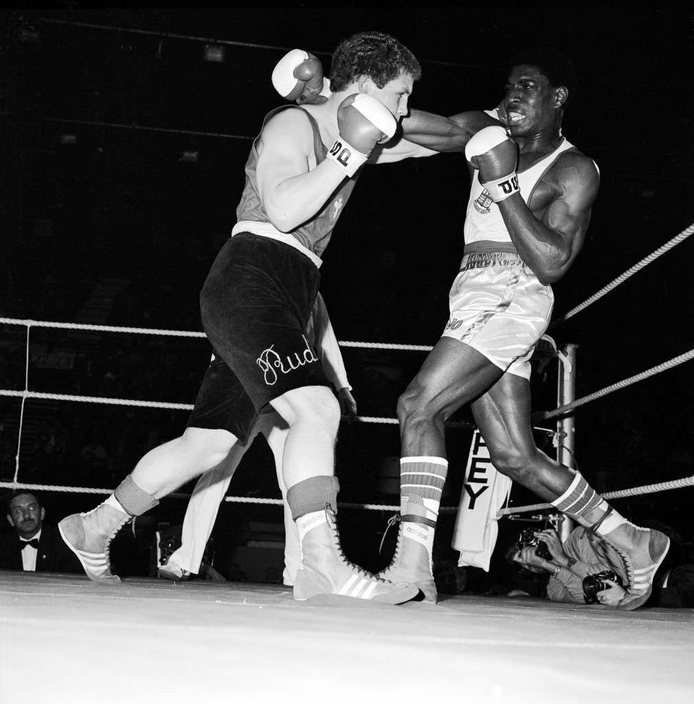 Boxing - ABA Championships - Wembley (L-R) Rudi Pika and Frank Bruno flail away at each other Ref #: PA.681818  Date: 02/05/1980