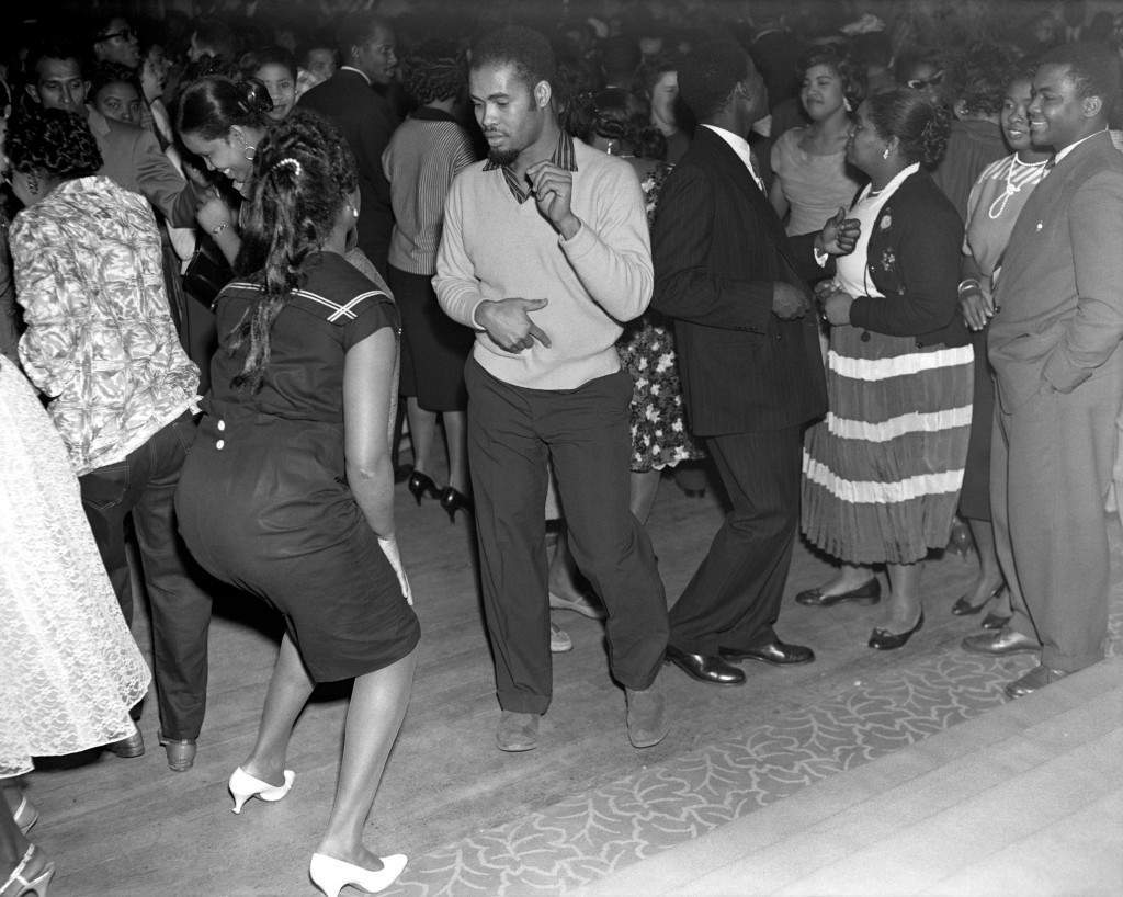 Carnivals & Festivals - The Caribbean Carnival - London - 1959 Guests dancing to the music of the Trinidad All Star Steel Band at the Caribbean Carnival at St Pancras Hall, London. Ref #: PA.7694476  Date: 30/01/1959