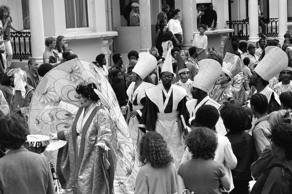 Dancing in the streets during the Notting Hill Carnival. Ref #: PA.1326916  Date: 30/08/1981