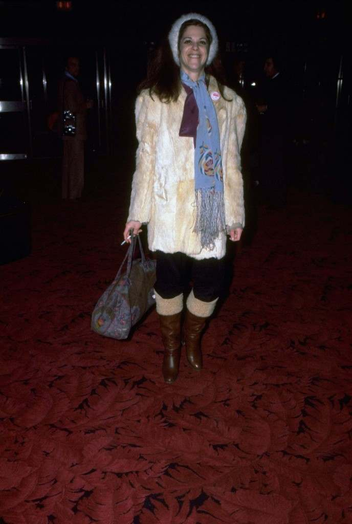 Gilda Radner arrives at Studio 54 for a party given in honor of Bianca Jagger December 12, 1977, given by fashion designer Halston. (AP Photo/Ron Frehm) Ref #: PA.8666450 Date: 12/12/1977