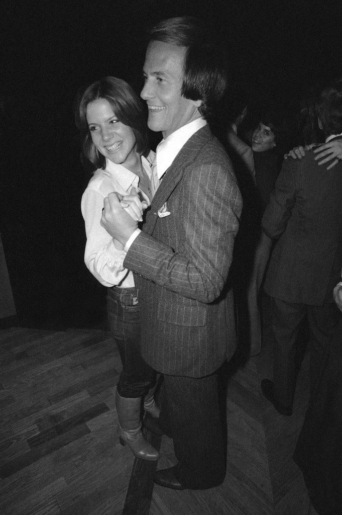 Pat Boone dances with daughter Debbie Boone at Studio 54 in New York City, Jan. 13, 1978. (AP Photo/Ron Frehm) Ref #: PA.9482624 Date: 13/01/1978
