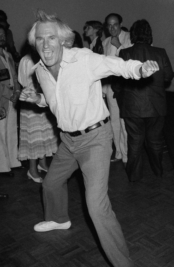 "Dr. Timothy Leary, the former psychedelic drug guru puts his all into dancing at New York's studio 54, Thursday, July 20, 1978 while he boogies at a post premier party for the opening of ""Sgt. Pepper's lonely hearts club band!"" (AP Photo/Drew) Ref #: PA.9781625 Date: 20/07/1978"
