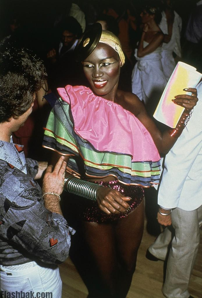 Singer Grace Jones at Studio 54 in New York in March 1979.