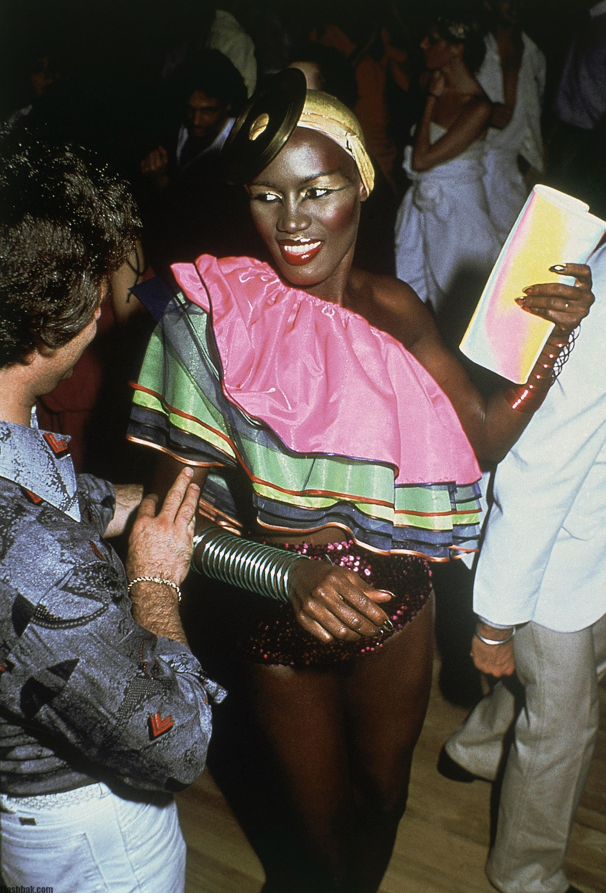 Singer Grace Jones at Studio 54 in New York in March 1979. (AP Photo)