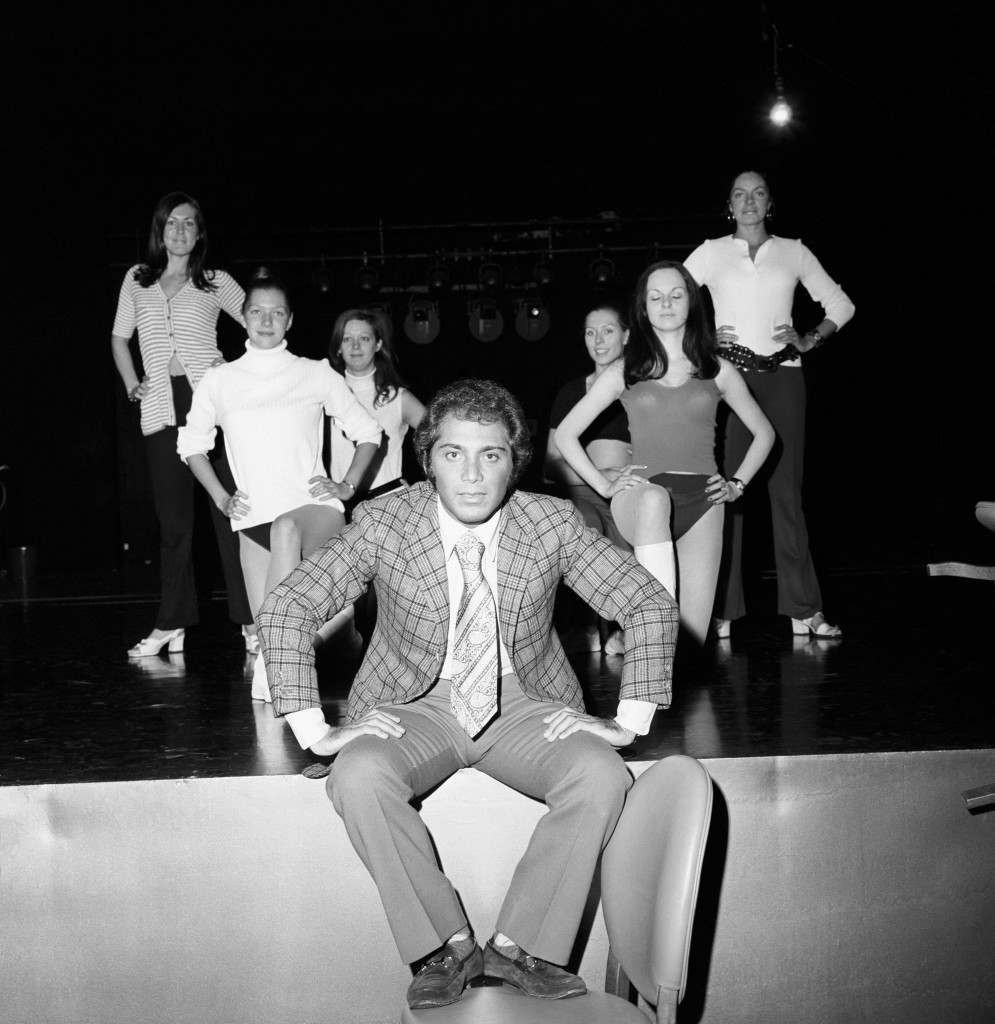 Paul Anka during rehearsals at the Talk of the Town in 1970.