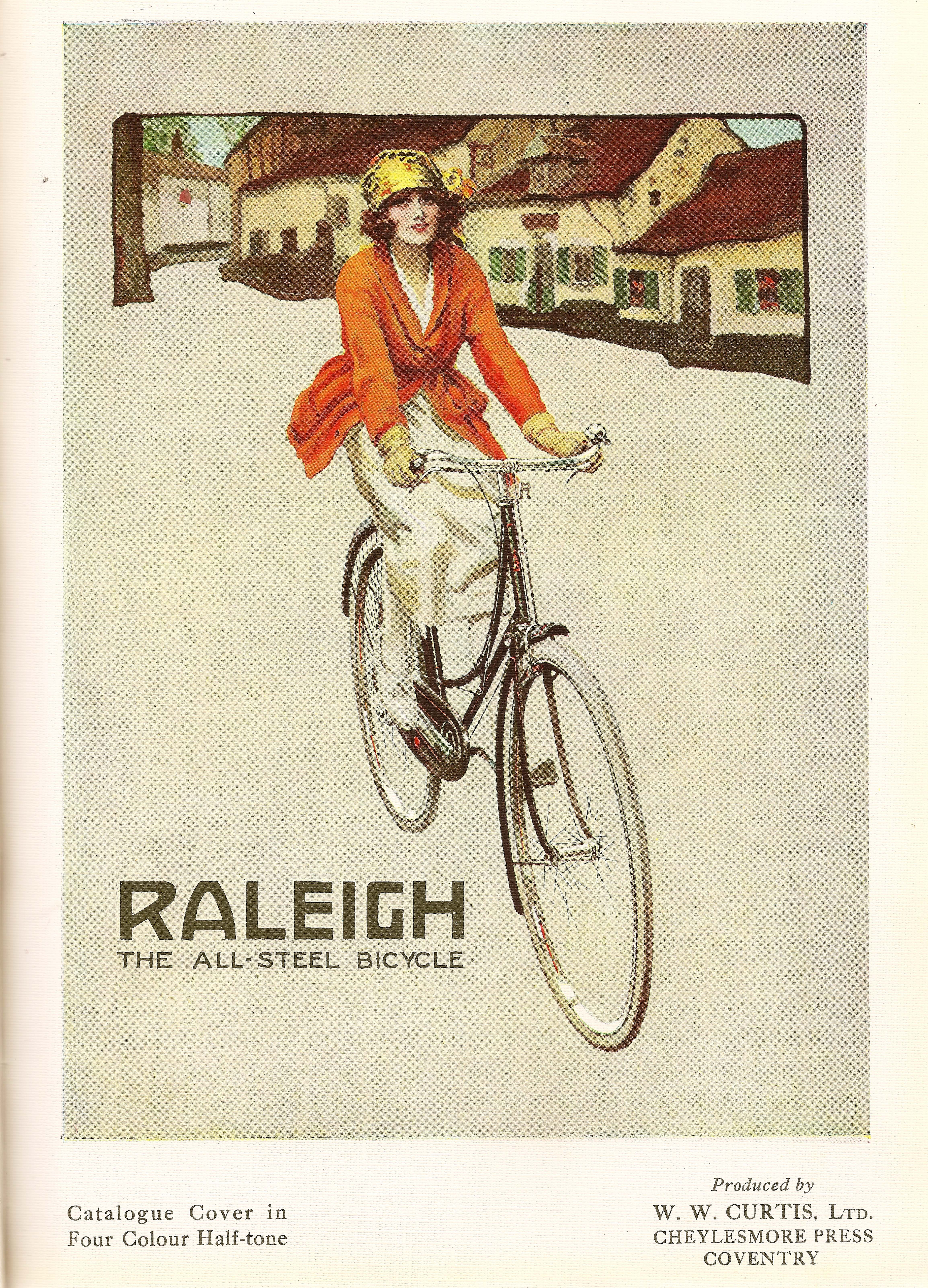 Raleigh catalogue cover from 1922.