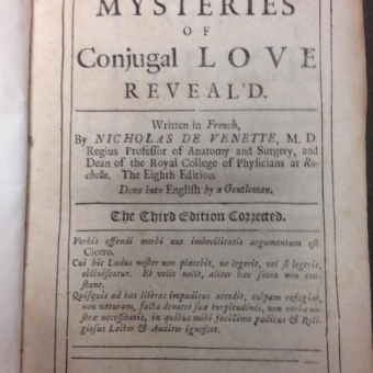 The Mysteries of Conjugal Love Revealed: An 18th Century Sex Guide
