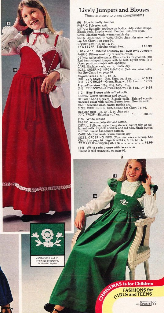 f489ea65547 These dresses literally could have been worn on Little House on the Prairie  and fit right in. 1979-1980 was a very unfeminine time in fashion.