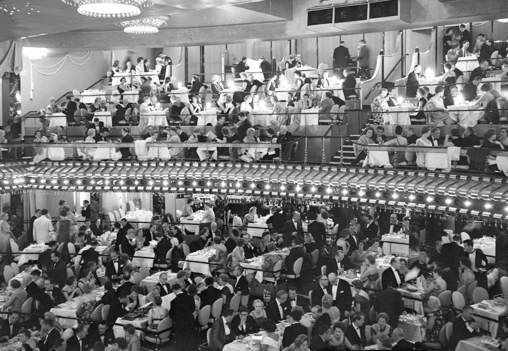 The audience at the Talk of the Town in 1958.