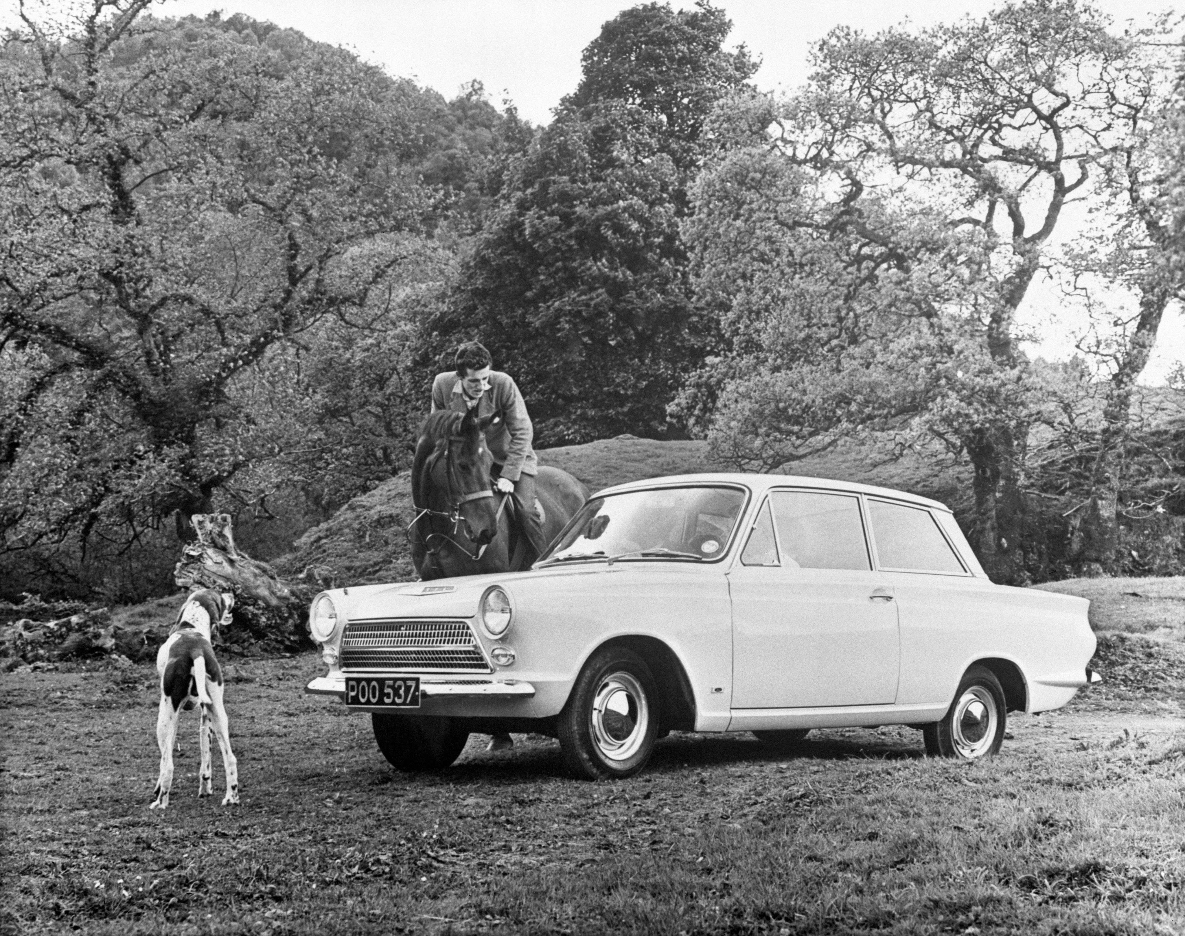 Publicity picture for the brand new Ford Consul Cortina, 1962.