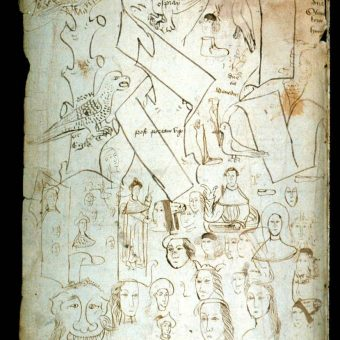 Pen Trials And Other Doodles In 13th And 14th Century Books