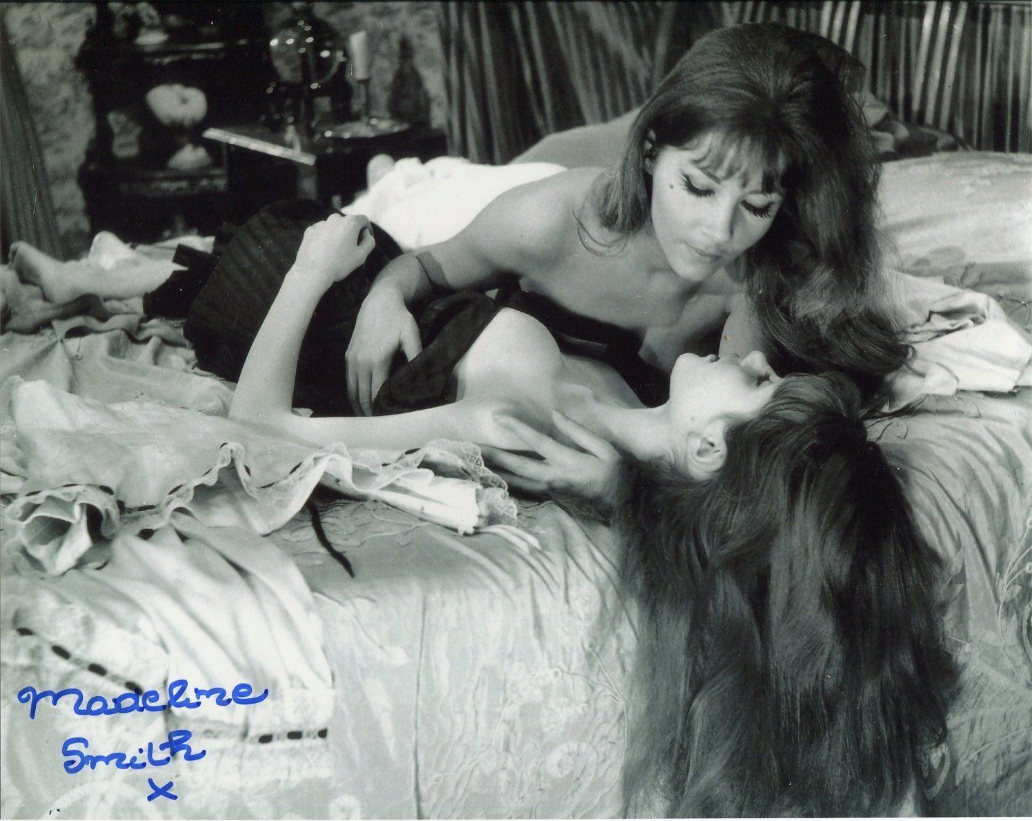Kate O'Mara and Madeleine Smith still - Vampire Lovers