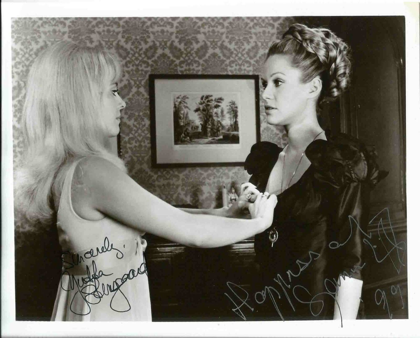Publicity still for Lust for a Vampire featuring Yutte Stensgaard and Suzannah Leigh
