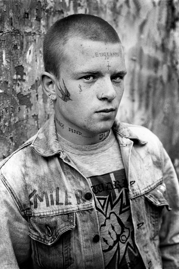 I entitled this photograph 'Smiler' since he's got it written on his jacket. His real name was Wayne and his street name was Wally. In an email he informed me that he was 16 when I took this photograph in 1984.