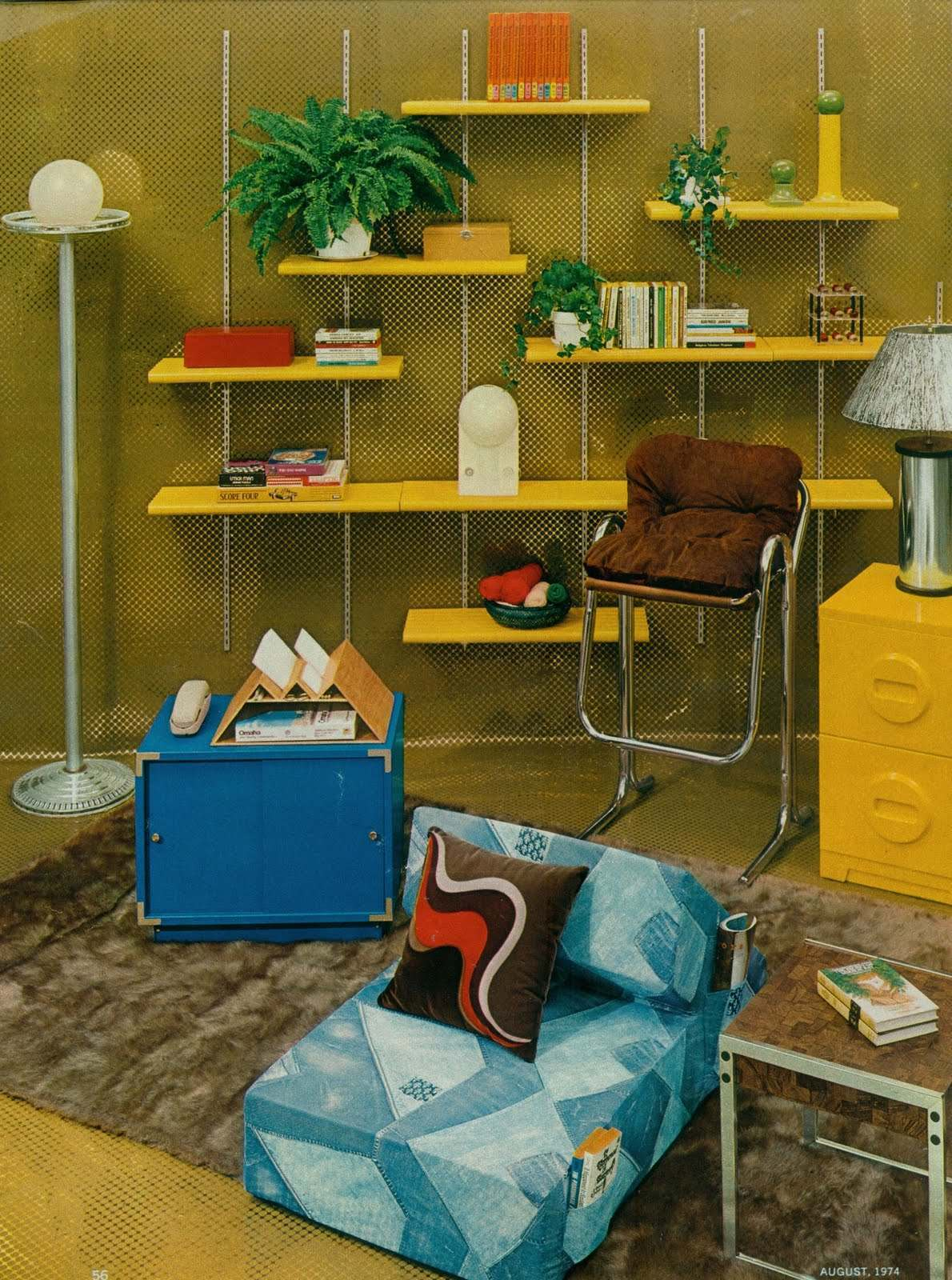 Groovy interiors 1965 and 1974 home d cor flashbak - Interior design and decoration ...