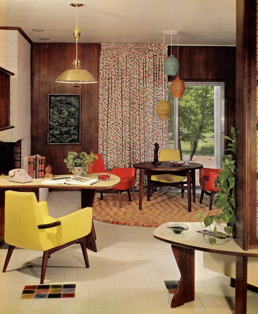 Groovy interiors 1965 and 1974 home d cor - Mid century modern home decor ...