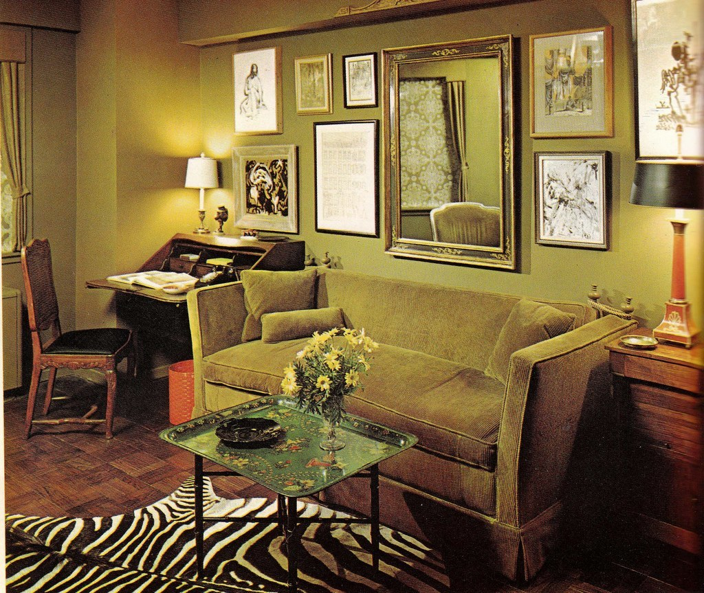 Groovy interiors 1965 and 1974 home d cor flashbak for Home design 60s
