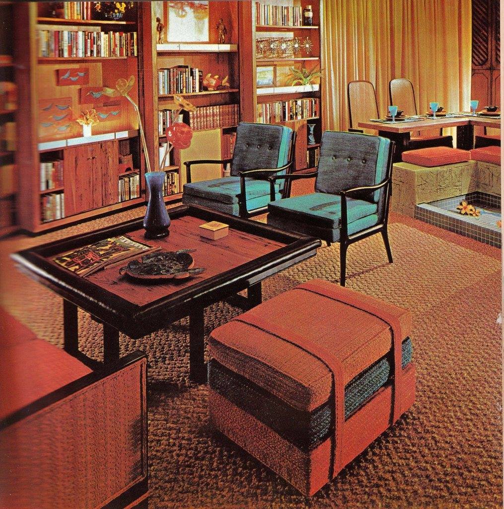 House Decoration Stores: Groovy Interiors: 1965 And 1974 Home Décor