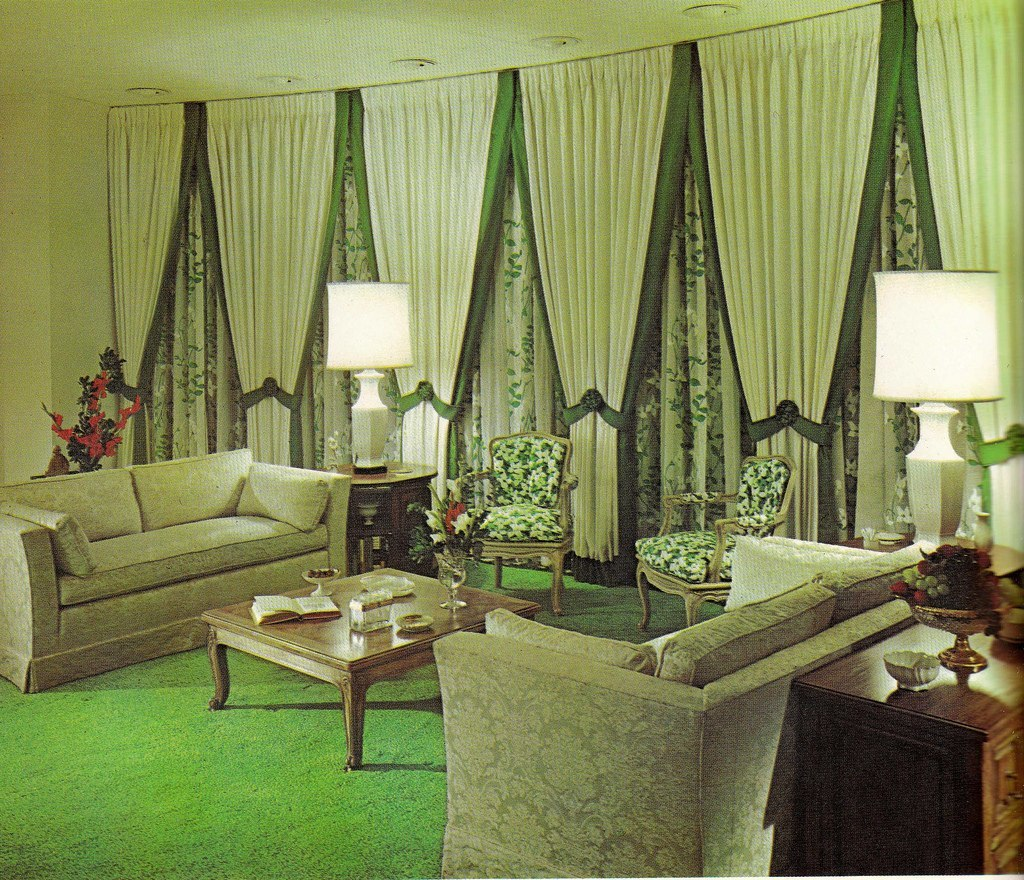 Groovy interiors 1965 and 1974 home d cor flashbak for Home decor living room