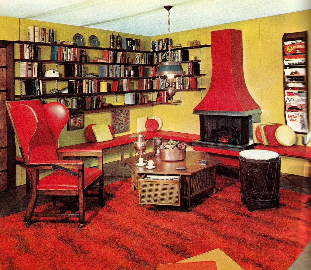 Groovy interiors 1965 and 1974 home d cor for 60s apartment design